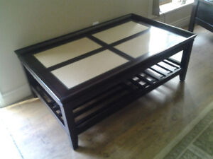 Coffee table with photo display
