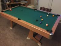 6ft Folding pool table pub style