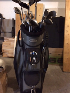 Wilson Golf clubs with Taylor Made Bag