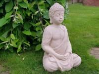 Buddah ; cast stone garden ornament