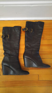 Size 7 Aldo Wedge Boots