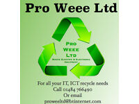 Computer disposal, computer recycling, data wiping service Free collection plotters IT, ICT