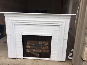 Decorative electric fireplace-$50