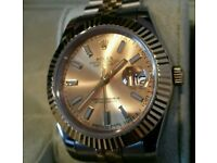 Rolex DateJust Bi Colour Silver Gold + Box, Papers