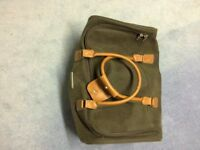 Pair of hold all bags large and smaller gents brown
