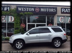 2009 GMC Acadia SLT*AWD*CAPTAIN CHAIRS*LEATHER*A MUST SEE!!!