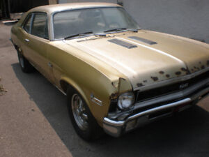 1971 Nova SS ?? {BARN FIND} 350 SBC At. Runs & Drives But Rusty