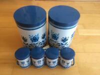 Retro floral tins