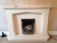 Limestone Fireplace Surround very good condition