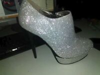 lovely silver high heels