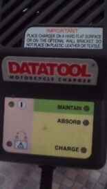 Motorcycle battery charger / datatool