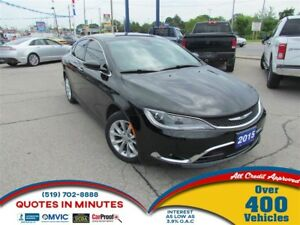 2015 Chrysler 200 C | LEATHER | NAV | SUNROOF | BACKUP CAM