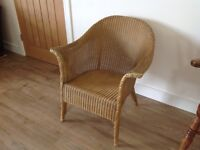 Lloyd Loom chair in gold