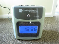 Clocking Systems CS-30 robust machine time card employee attendance