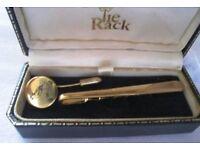 TIE CLIP & CRAVAT PIN- GOLD COLOUR