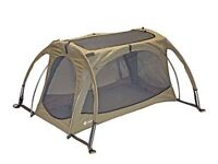 twin arc travel cot with sun shade like new
