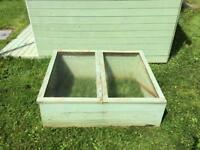 Large cold frame with split top