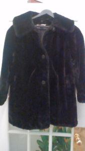 Vintage faux fur winter dress coat/ Siwash coat