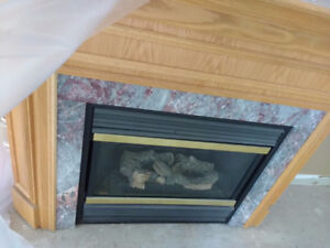 Majestic Gas Fireplace and full surround mantle
