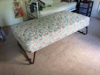 Folding stowaway single bed - perfect for occasional guests!!