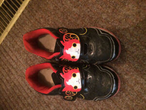 Size 1 kids shoes runner and rain boots