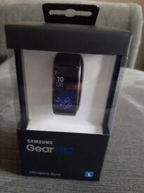 Samsung Large Original Gear Fit2 Sports Band - Black