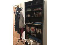 Standard Ikea Black Bookshelf and/or coat rack