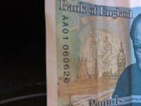 New £5 note AA01-06 open to offers