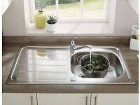 Sink with Arno single lever tap ( and waste) - new