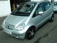 2001 51 MERCEDES A160 1.6 AUTOMATIC ELEGANCE 5 DOOR ** ONLY 74000 MILES ** MOT AUGUST 2018 **