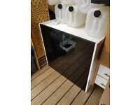 Gloss stand cabinet for marine aquarium