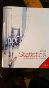 Statistics for Management and Economics 10th Edition.