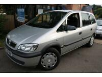 2004 Vauxhall Zafira 1.6I 16V LIFE Silver Long MOT 7 Seater Car Low Mileage