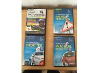 ***OFFICIAL DSA THEORY CAR TEST KIT, PRACTICAL TEST TIPS + MOTORCYCLE THEORY + HAZARD PERC' CD
