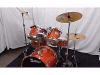Retired drum teacher has a Premier 'Artist Birch' 'Fusion' drum kit for sale.