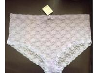 Ladies Lilac Lace Knickers From Evans