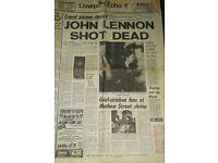 John Lennon Dead Newspaper!
