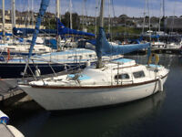Hurley 22 long keel sailing yacht, Yanmar inboard engine, new upholstery, One, if not, the best.