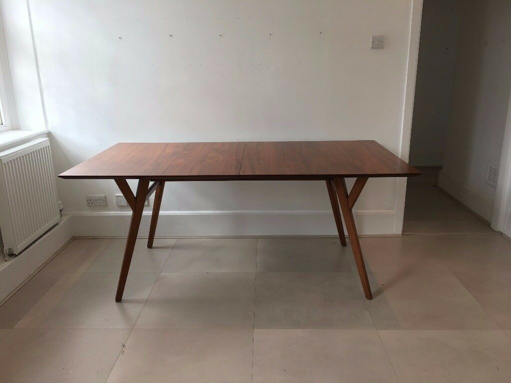 West Elm Mid Century Expandable Large Dining Table Walnut