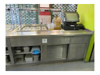 Hot & Cold take away counter made by counterline UK