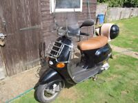vespa et2 50cc 4 stroke scooter motorbike 7200 miles mot and taxed £500 ono