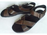 Joan Cope British-made Brown Leather Ladies' Sandals Size 8, Boxed