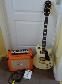 LINDO LP type Guitar Gig Bag & Orange 20RT amp