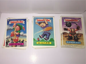 Stack of Garbage Pail Kids Cards from 1987