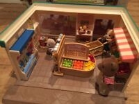 Sylvanian Family Supermarket with figures and accessories