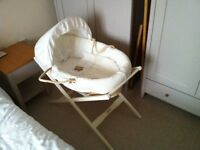 New Baby essentials for sale. Moses basket, Baby jumper, Baby activity gym and play mat