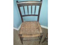Chair with woven seat
