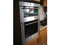 Siemens Integrated double oven with self-clean linings