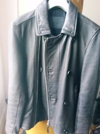 ALL SAINTS GLENTON LEATHER JACKET RRP £398