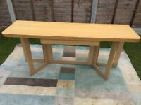 Fold up ikea dinning table and 4 chairs